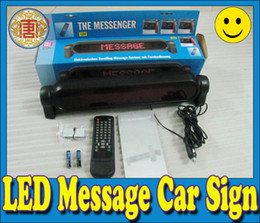 Wholesale led car message sign screen display electronic scrolling message system amp remote control red color