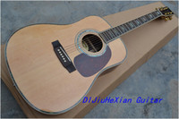 Semi-Hollow Guitar Right-handed 6 Strings Wholesale - 2011 NEW Acoustic Dreadnought Guitar D45 model free shipping