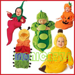 Wholesale Lovely Babies Pea Banana Penguin Chili Pumpkin Sleeping Bag Magic Sleep bags Fleece Infant One Layer