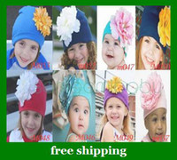 Wholesale Lovely Baby flower hats fashion head flowers amour kids hats cotton gifts more styles