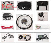 Wholesale 28 quot Rear Wheel LCD Screen New Electric Bicycle Conversion Kits V W E bike Brushless Motor