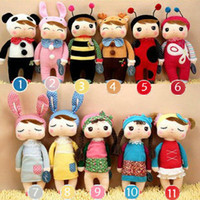 Wholesale Angela Plush Doll Metoo Stuffed Rabbit Dolls Toys with Boxes Kids Christmas Gifts Mixed styles