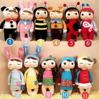 Wholesale Angela Plush Toys Metoo Stuffed Rabbit Dolls Toys Nice Boxes Kids Christmas Gifts Mixed styles