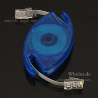Wholesale Recommend M Retractable RJ45 M M Cat5 Ethernet Network Cable For Computer Laptop Netbook Blue