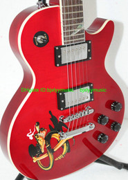 Newest Custom Shop Slash Electric Guitar with Snake Fingerboard Red High HOT Guitars