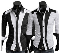 Wholesale 2013 New Mens Slim Sexy Casual Shirt Long Stylish Shirt Dress Color M XXL