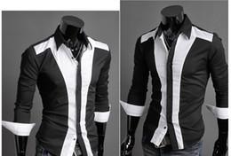 Wholesale 2013 New Mens Slim Sexy Casual Shirt Long Stylish Shirt Dress Color M XXL