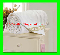 Wholesale Silk filled comforter blanket KG Summer Spring Fall Queen Full size cotton cover