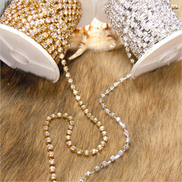 Wholesale 2mm mm mm mm mm crystal cup chain rhinestone cup chain strass chain MC chaton cup chain