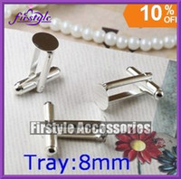 8mm sterling silver blanks - Sterling Silver Plated Cuff Link blanks mm wide pad Tray Reg Mail Nickel free lead free