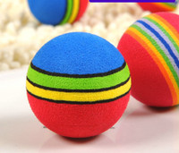 Wholesale 2013 new Super Q rainbow ball cat toys pet EVA toys dog balls Toy Diameter of cm