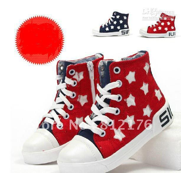 New Hot Sale Fashion Boys Girls Shoes Kids Shoes Five Pointed Star ...