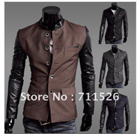 Wholesale a korean slim fit men leisure suit fashion men blazer suit brand casual jacket coat colors M XXL
