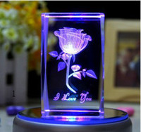 Wholesale custom made D laser engraving crystal craft began to