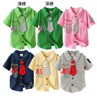 Wholesale Infant Clothing Short Sleeve T Shirt Boy T shirt With Collar Baby Summer T Shirts Fashion Boys Tops