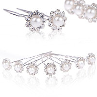 Wholesale Fashion Pearl Hair Pins Crystal Hair Jewellery Wedding Bridal Jewelry Hair Accessories