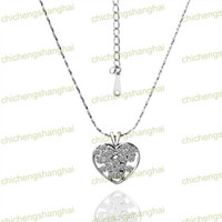 Wholesale Fashion Gilded Necklace austrian Crystal Rhinestone K gold plated charm Pendant charms N021
