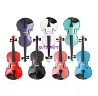 Wholesale 1 full size high quality colorful violin red white black pink and so on with dyed black a