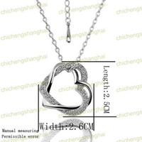 Wholesale Fashion Gilded Necklace austrian Crystal Rhinestone K gold plated charm Pendant charms N006 B