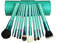 Wholesale 12pcs set ZOREYA makeup brush set Cosmetic Brush makeup tools colors Cylinder set MB81
