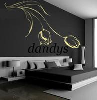 Graphic vinyl beautiful tulips - room house wall decorative stickers TV stickers beautiful tulips cm x cm ZQT006