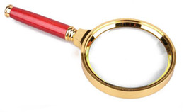 Wholesale Hand held High quality Magnifying glass x magnifier drop shipping D581