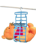 Wholesale multi function Drying clothes hangers Plastic clothes drying rack F395