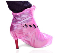 Wholesale women favorite waterproof shoe covers flat and high heeled shoes cover drop shipping D