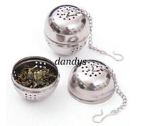 Wholesale Freeshipping Spices leakage Make tea ball Stainless steel seasoning ball dropshipping F512