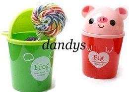 Wholesale Love Cartoon Animal Waste Box Trash Can Garbage Bin animal trash bin Office StationeryNovelty Toy fr