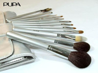 Wholesale 12pcs set PUPA makeup brush set mink Brush Cosmetic brushes Makeup Brush Cosmetic tools MB76