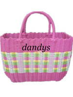 Wholesale hot sale Gift picnic wicker basket bicycle and shopping basket plastic dropshipp