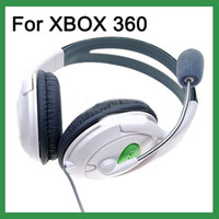 Wholesale New DELUXE Headset Headphone With MICROPHONE FOR XBOX LIVE White