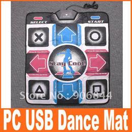 Wholesale Hot Sell Dance Mat Non Slip Dancing Step PC USB Dance Mat Mats Pads Retail