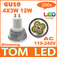 Wholesale Dimmable GU10 E27 E14 X3W W High power LED Bulb Spotlight Downlight Lamp LED Lighting