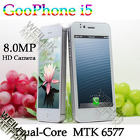 Wholesale GooPhone I5 MTK dual core android dual sim G smart phone with capacitive screen ghz