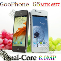 Wholesale Dual core MTK android with capacitive screen Goophone G5 ghz G unlocked cell phone