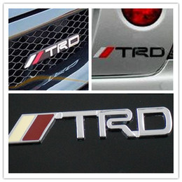 Wholesale 5 X Metal Chrome Steel TRD Car Hood Truck Chorme TRD Badge Emblem Sticker for TOYOTA