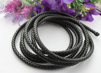 3 Meters of 8mm Black Braided Bolo Leather Cord #22515 FREE ...