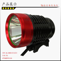 Wholesale CREE XM L T6 L LED Bicycle Light HeadLight headLamp v mAh Battery paypal