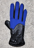 Wholesale New PU Outdoor Gloves thick velvet Gloves bike riding gloves Korea Five fingers Gloves pairs