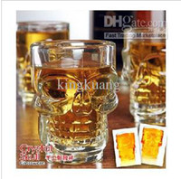 Wholesale New Crystal Skull Head Vodka Shot Glass Drinking Ware for Home Bar Party skull cup bottle