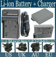 Wholesale 2 Pieces LP E8 LPE8 Battery Charger for Canon Digital SLR Camera Rechargeable Li ion mAh free