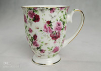 Wholesale Bone china British royal cup roses ceramic cup coffee cup ML