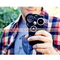 Wholesale Black in1 Lens Dial boasts Fisheye Wide Angle Telephoto for iphone s