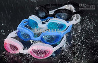 Wholesale Swimming goggles antifogging waterproof glasses Silicone integration goggles