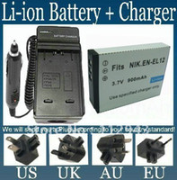 Wholesale EN EL12 Battery Charger for Nikon COOLPIX S610 S620 S630 S1000pj S1100pj S1200pj S6100 S8100 S9100 A