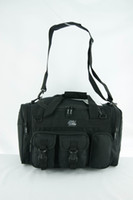 Wholesale 18 quot multii pockets outdoor camping sports travel black duffel bag