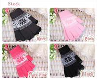 Wholesale Christmas New Warm Telephone Special Gloves Snowflakes fawn Individual design Women Winter Gloves