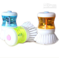 Wholesale The Blister installed automatic liquid scrubbing pots non sticky brush washing dishes